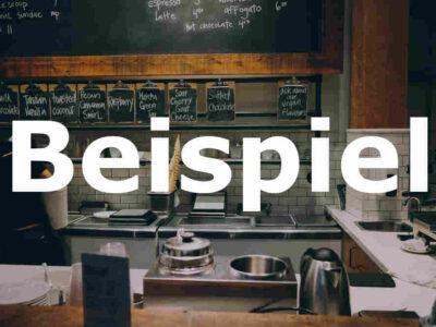 Beispiel: Restaurant zu verkaufen (Bern)